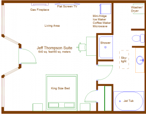 Floor plan of Thompson suite