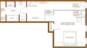 De Mun suite floorplan