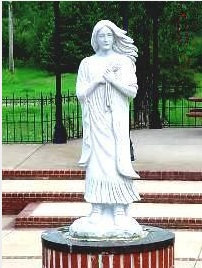 Statue of Indian Pocahontas, Black River Overlook Park