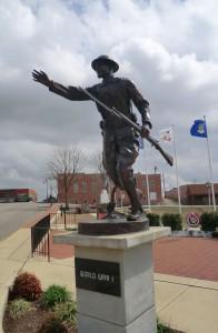 War Memorial statue downtown Pocahontas